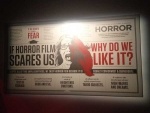 Horror Film Exhibit Sign