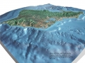 Solid Terrain Model Oahu Hawaii