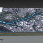 Terrain Model of Folsom city and Lake Natoma